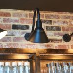 25cm_frontier_gooseneck_sign_light_black_g22_gooseneck_arm_on_brickwall