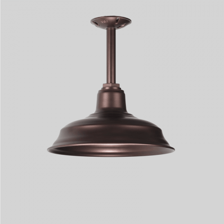Copper Warehouse Shade Stem Pendant