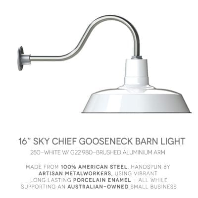 Outdoor gooseneck barn lights goodrich sky chief gooseneck light aloadofball Choice Image