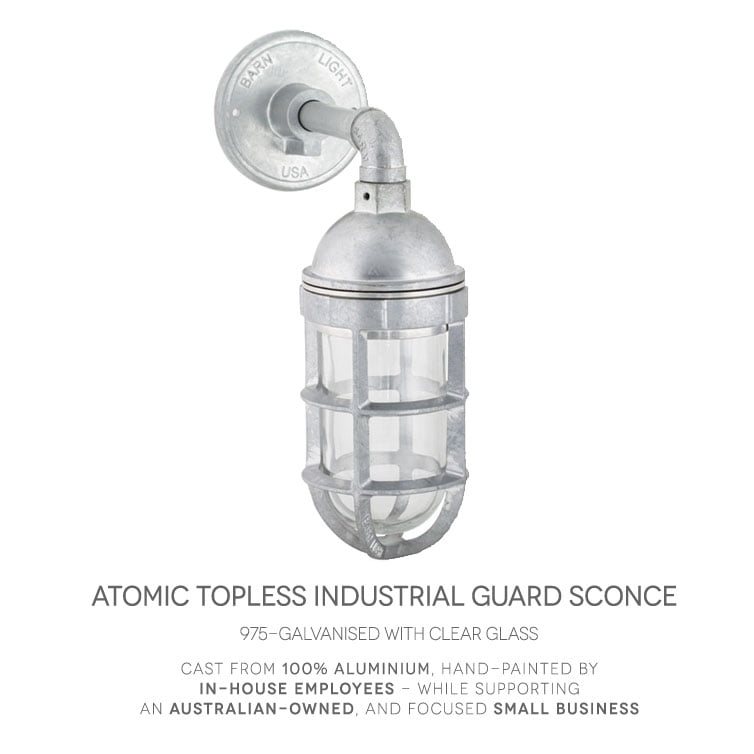 Atomic Industrial Guard Sconce