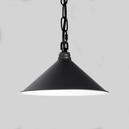 Black Warehouse Shade on Chain Hung