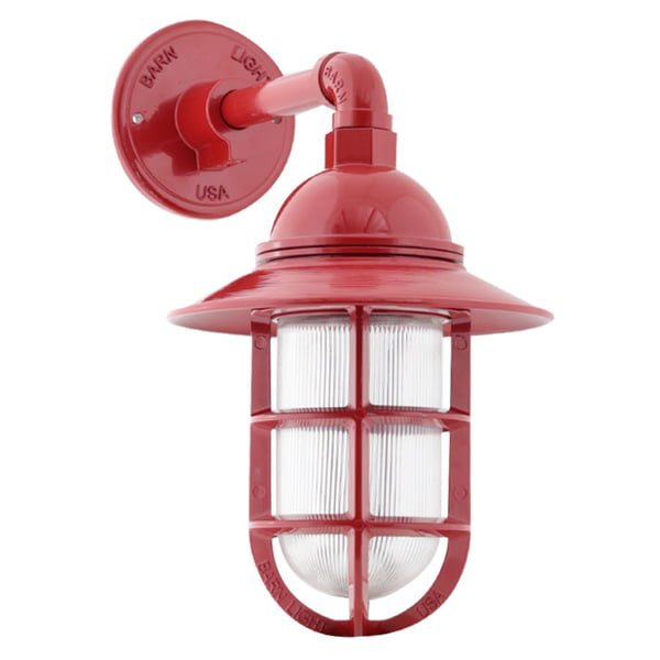 atomic flared wall sconce 400 flame red