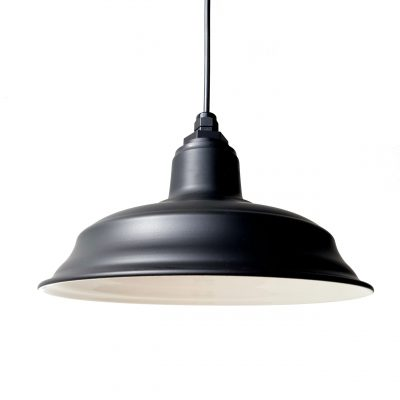 33cm Old Dixie Barn Pendant in Electro Black Ace.