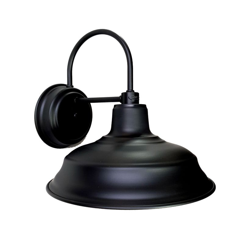 33cm Old Dixie Wall Sconce in Electro Black Ace