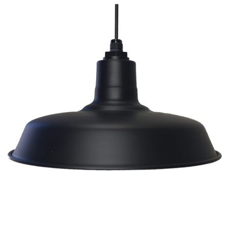 40cm Original Barn Pendant in Electro Black Ace