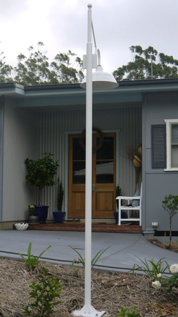 Bomber Post Mount Light installed in Lake Conjola, NSW