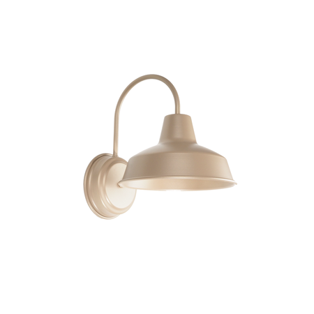 powdercoated gold wall sconce barn light