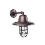 Atomic Warehouse Guard Sconce in Burnished Copper