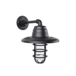 Atomic Warehouse Guard Sconce in Black Ace