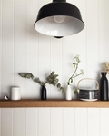 The Eclipse Gooseneck Barn Light in Electro Black Ace w/ SG16 Sconce Arm
