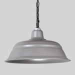 Silver Warehouse Shade on Chain Hung