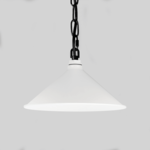 White Warehouse Shade on Chain Hung
