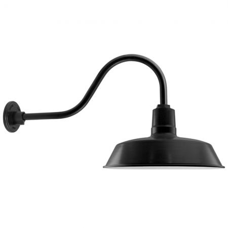 The Original Gooseneck Barn Light in PC100-Black Matt Powdercoat