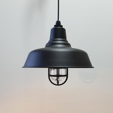 35cm Universal Barn Pendant w/ Cast Guard & Glass