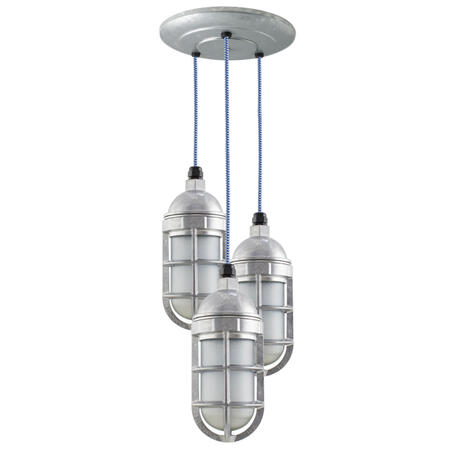 Atomic Industrial Chandelier in 975-Galvanised