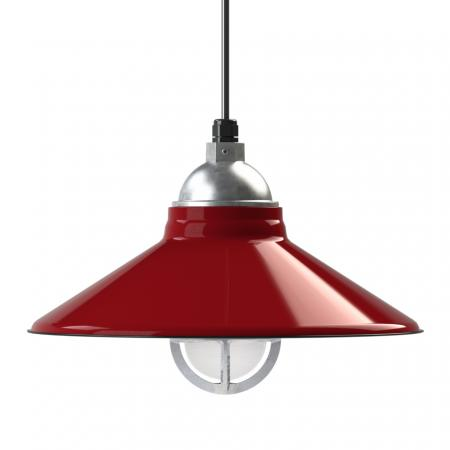 40cm Cleveland Vintage Industrial Barn Pendant in 405-Cherry Red