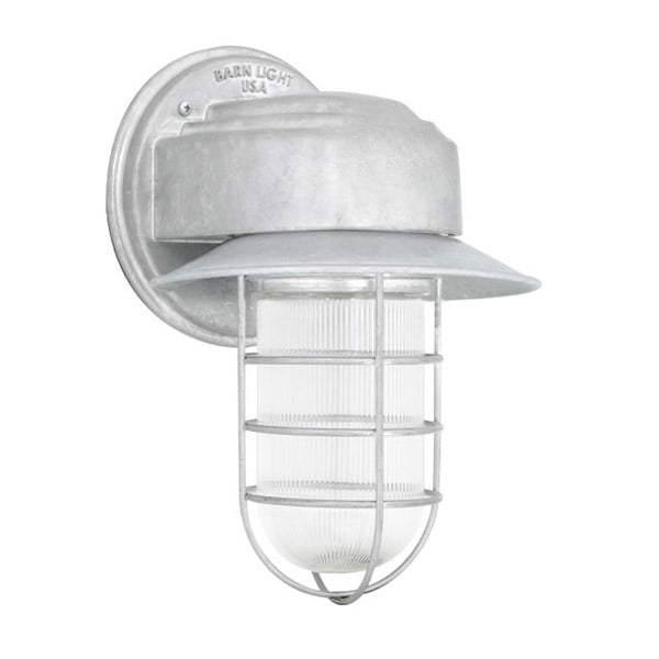 Streamline Flared Guard Sconce w/ Wire Cage & Prismatic Glass